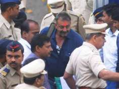 Sanjay Dutt walks free: First moments