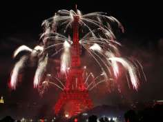 Bastille Day fireworks at Eiffle tower