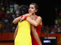 Emotions spilled on the court as Sindhu-Carolina hug each other after Rio Olympic final