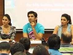 Shuddh Desi Romance star cast at a promotional event