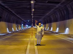 In Pics PM Modi inaugurates India s longest road tunnel in J K