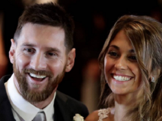 In pictures Lionel Messi marries childhood sweetheart Antonella Roccuzzo
