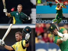 Top 5 fastest centuries in T20 Internationals David Miller Richard Levi Faf Du Plessis Aaron Finch Chris Gayle