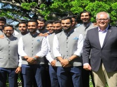 virat kohli india cricket team australia cricket team meet prime minister scott morrison india tour of australia