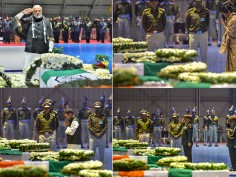 Pulwama Terror Attack: PM Modi, Rahul Gandhi lay wreaths on mortal remains of CRPF jawans