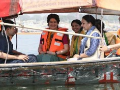In Pictures: Priyanka Gandhi Ganga yatra from Allahabad to Varanasi