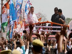 Hum Saath Saath Hain in Amethi Family puts on united front for Rahul Gandhis nomination