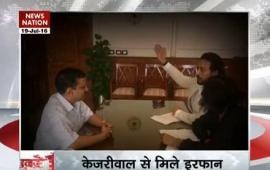 Irrfan Khan meets Delhi Chief Minister Arvind Kejriwal