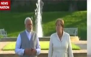 PM Modi meets German Chancellor Angela Merkel