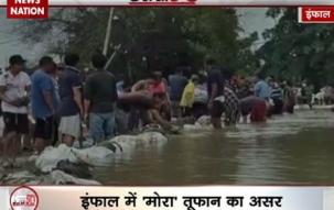 Mora cyclone hits Imphal Manipur