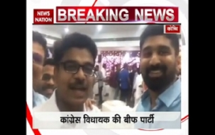 Video of Congress MLA throwing beef party goes viral