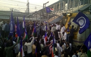 Dalits protest in 13 cities of Maharashtra, buses stoned, trains delayed