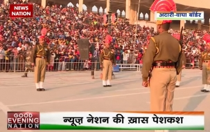 Republic Day: Spectators supporting Indian soldiers at Atari Wagah border