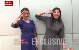Bigg Boss fame Arshi Khan and Jyoti Kumari celebrate R-Day with News Nation