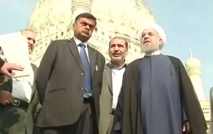 Iran President Hassan Rouhani visits Qutub Shahi Tombs in Hyderabad
