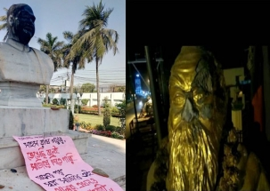 CPM workers vandalise Jana Sangh founder SP Mukherjee's statue in Bengal