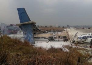 US-Bangla passenger plane carrying 67 people on-board crashes at Kathmandu airport in Nepal