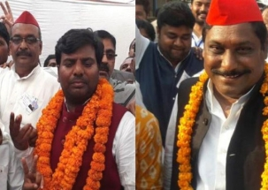 Speed@50: Newly elected Gorakhpur, Phulpur by-polls lawmakers meet Akhilesh Yadav