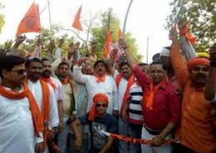 Agra: Shobha yatra taken out on the occasion of Ram Navmi