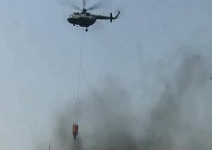New Delhi: Massive fire broke out in a rubber factory in Malviya Nagar