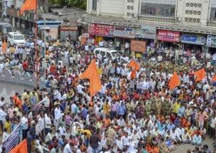 Maratha reservation protests intensify, internet services suspended in Aurangabad