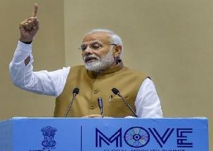 PM Narendra Modi interacts with Anganwadi workers