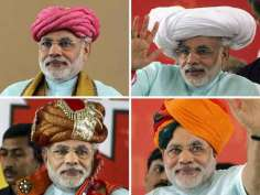 Narendra Modi in different wardrobes
