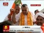 BJP candidate Paresh Rawal campaigning on Bullock-cart