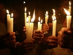 Candle-light march for Hyderabad blast victims