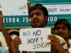 Students protest against Honey Singh in Nagpur