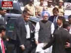 PM visits blasts site in Hyderabad