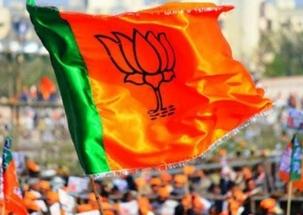 Stage set for BJP Yuva Morcha Vijay Sankalp rally at Ram Leela Maidan
