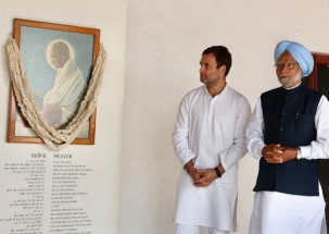Ahead of CWC meet, Cong pays tribute to Mahatma Gandhi at Sabarmati