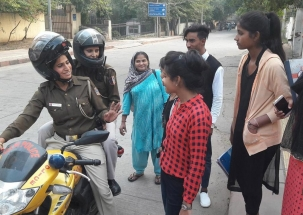 Delhi Police deploys women personnel to tackle Holi hooliganism