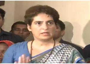 Priyanka Gandhi ends dharna after meeting kin of Sonbhadra victims