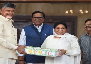 LS Polls: Naidu meets Akhilesh, Mayawati to form anti-BJP front