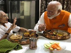 In Pics: PM Modi's Special Birthday Lunch With Mother Hiraben