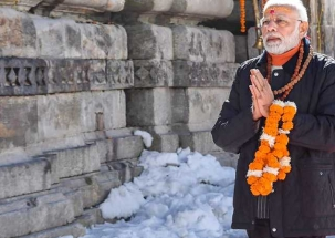 PM Modi offer prayers in Kedarnath on Diwali