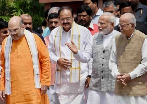 After BJP's massive victory, PM Modi, Amit Shah meet Advani