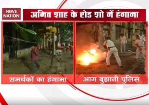 Mamata-Shah trade barbs after violence during BJP's roadshow