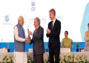 PM Narendra Modi awarded UN 'Champions of the Earth Award'
