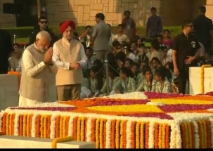 Gandhi Jayanti: India pays tribute to Mahatma Gandhi