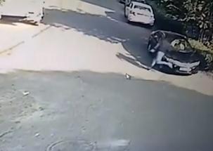New Delhi: Thief arrested in Kirti Nagar, video goes viral on social media