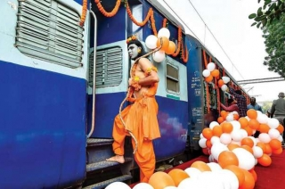 Sri Ramayana Express flags off from Delhi's Safdarjung station on Wednesday