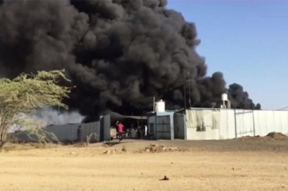 Madhya Pradesh: Fire breaks out at a tyre factory in Mandsaur