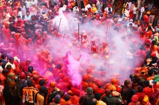 Barsana Holi: Celebrations in Mathura, Nandgaon with colour and sweets