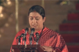 Swearing-in ceremony: Smriti Irani takes oath as Union Minister