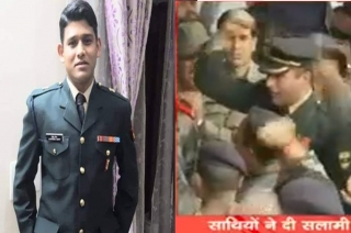 Major Bisht's colleagues raise 'how's the josh' war-cry at funeral