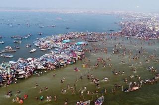 Devotees gather at Prayagraj for holy dip on Paush Purnima