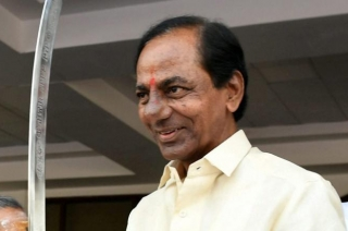 TRS chief K Chandrashekhar Rao takes oath as CM of Telangana